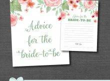 Bridal Shower Game Advice For The Bride To Be Printable