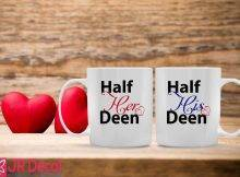 Half Her Deen And Half His Deen Islamic Mugs For Couples