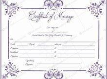 Marriage Certificate 05 - Word Layouts | Marriage