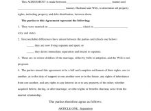 Separation Agreement (Without Minor Children Of The
