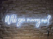Will You Marry Me Neon Sign With Acrylic Plate Neon Decor